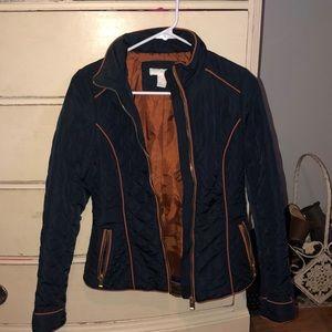 Dark blue puffer coat
